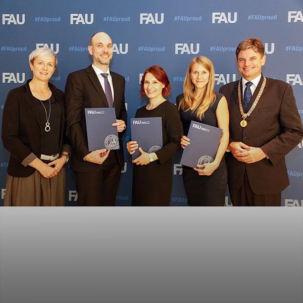Gruppenfoto der Lehrpreisträger und -trägerinnen